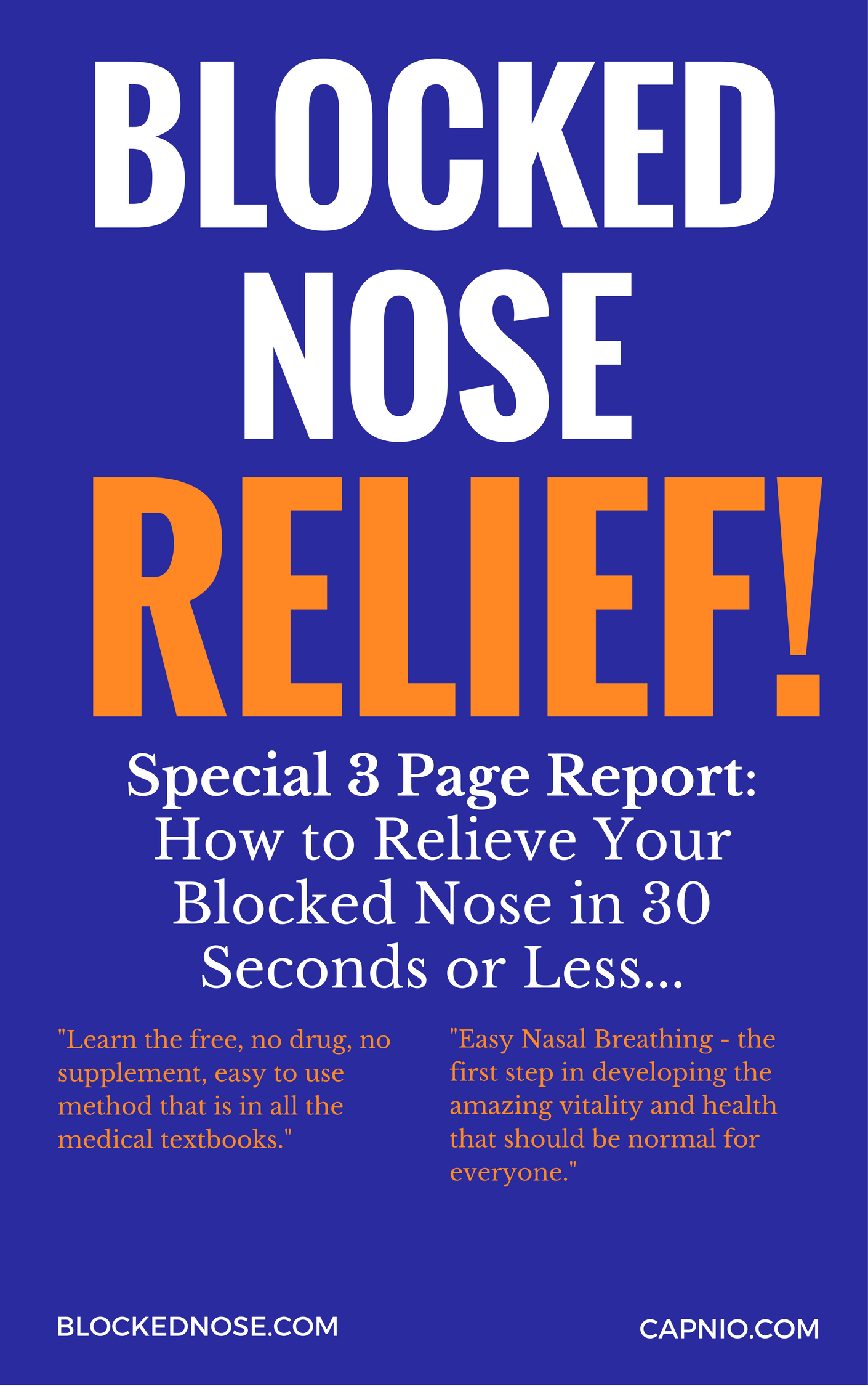 Blocked Nose Special Free Report